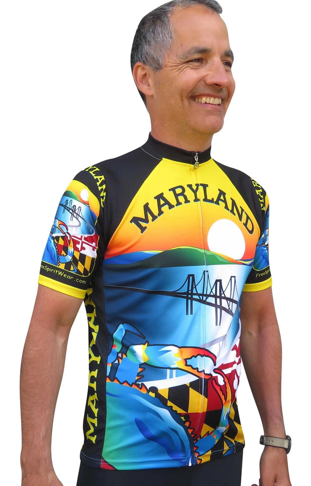 Maryland Cycling Jersey - Free Spirit Bike Jerseys