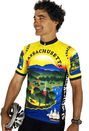 Massachusetts Cycling Jersey - Free Spirit Wear Bike Jerseys