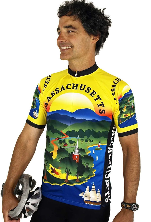 Massachusetts Cycling Jersey - Free Spirit Bike Jerseys