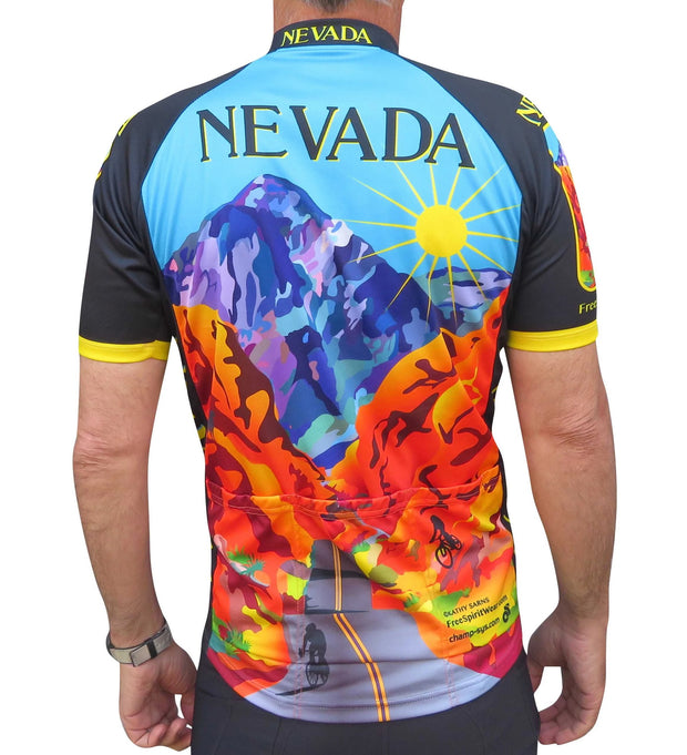Nevada Cycling Jersey - Free Spirit Bike Jerseys