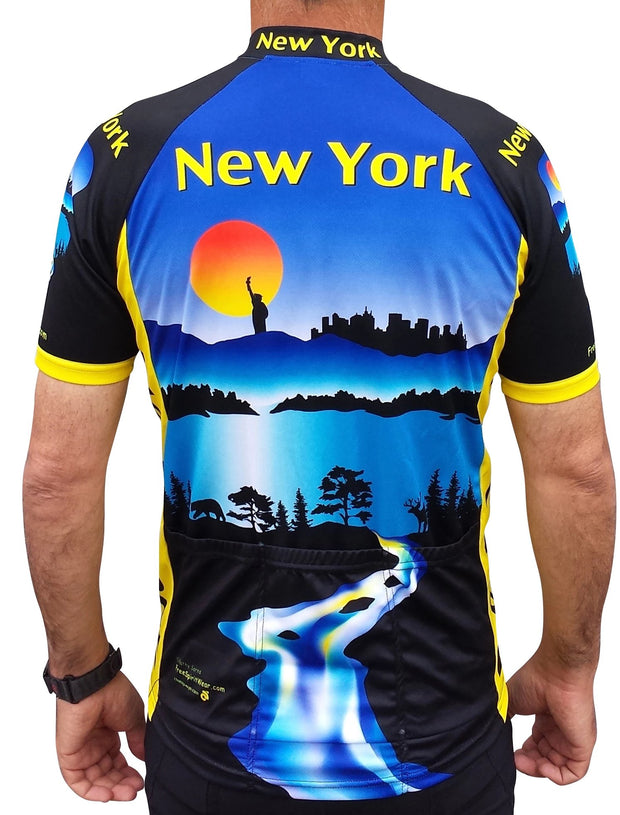 New York Cycling Jersey - Free Spirit Bike Jerseys