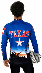 Texas Long Sleeve Bike Jersey - Closeout - Free Spirit Bike Jerseys