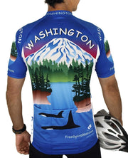 Washington Cycling Jersey - Free Spirit Bike Jerseys