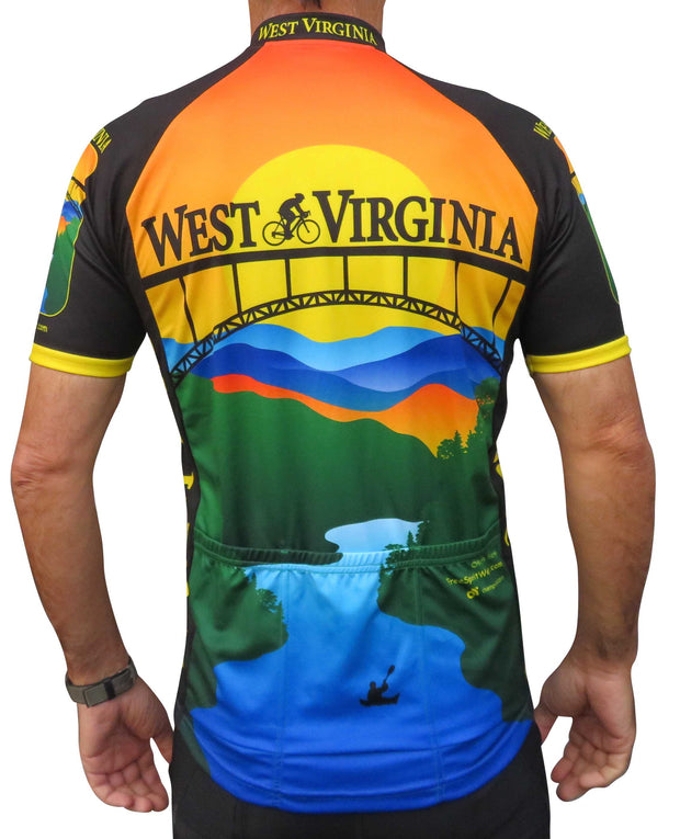 West Virginia Cycling Jersey - Free Spirit Bike Jerseys