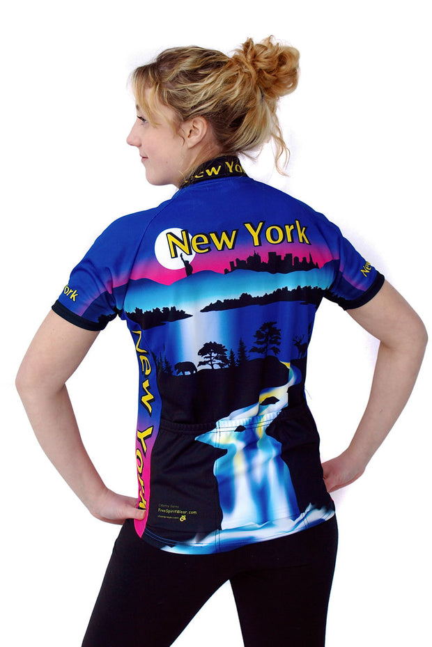 Womens New York Jersey - Closeout - Free Spirit Wear Bike Jerseys