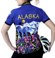 Womens Alaska Flower Jersey - Free Spirit Wear Bike Jerseys