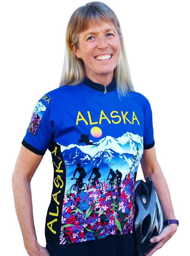 Womens Alaska Flower Jersey - Free Spirit Bike Jerseys