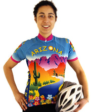 Womens Arizona Bike Jersey - Free Spirit Bike Jerseys