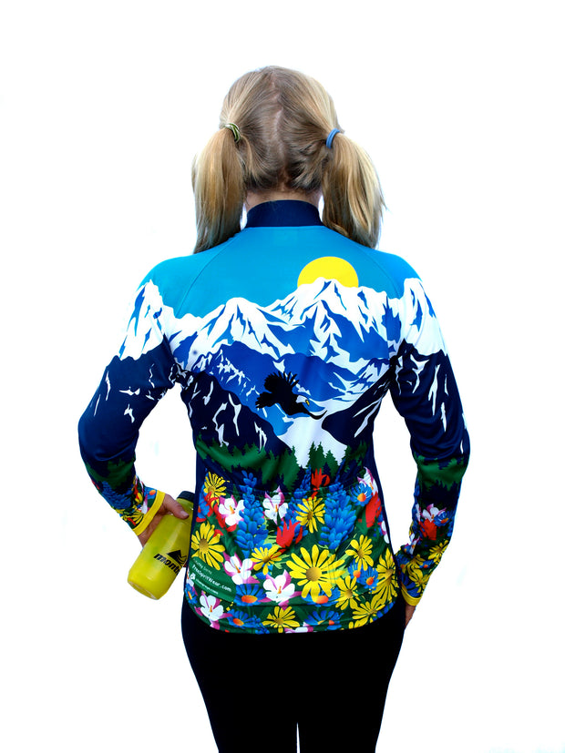 "Womens ""Awesome"" Long Sleeve Bike Jersey - Free Spirit Wear Bike Jerseys"