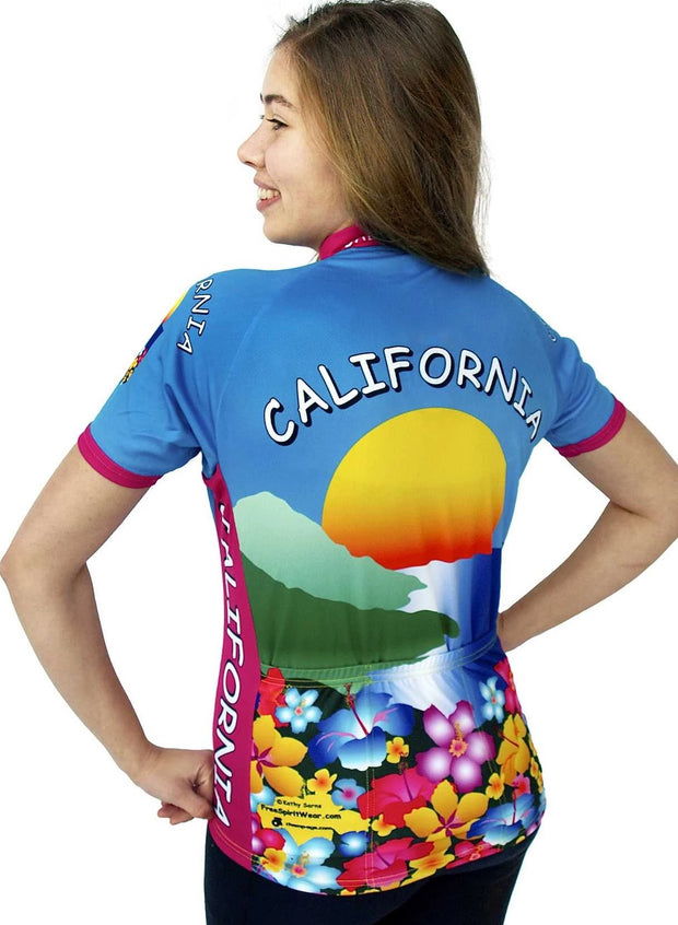 Womens California Bike Jersey - Free Spirit Wear Bike Jerseys