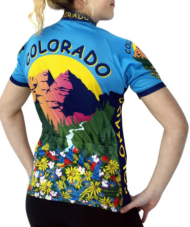Womens Colorado Bike Jersey - Free Spirit Bike Jerseys