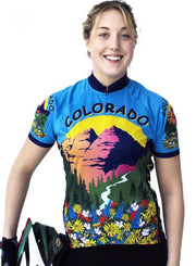 Womens Colorado Bike Jersey - Free Spirit Wear Bike Jerseys