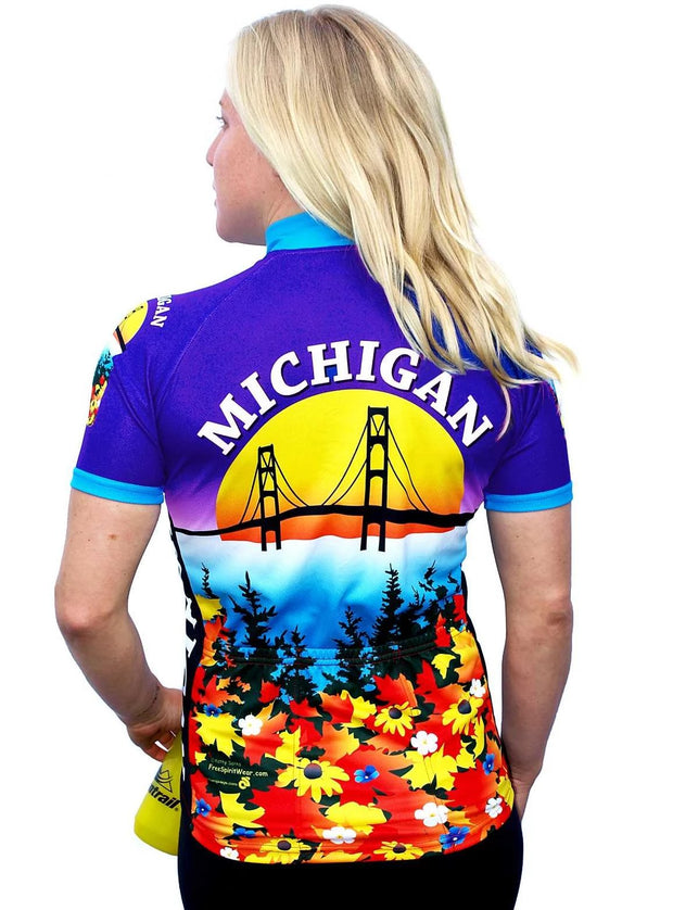 Womens Michigan Bike Jersey - Free Spirit Wear Bike Jerseys