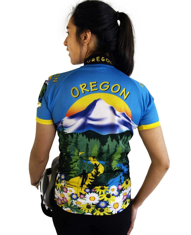Womens Oregon Bike Jersey - Free Spirit Wear Bike Jerseys