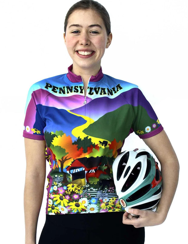 Womens Pennsylvania Jersey - Free Spirit Wear Bike Jerseys