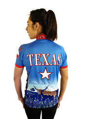 Womens Texas Bike Jersey - Free Spirit Bike Jerseys