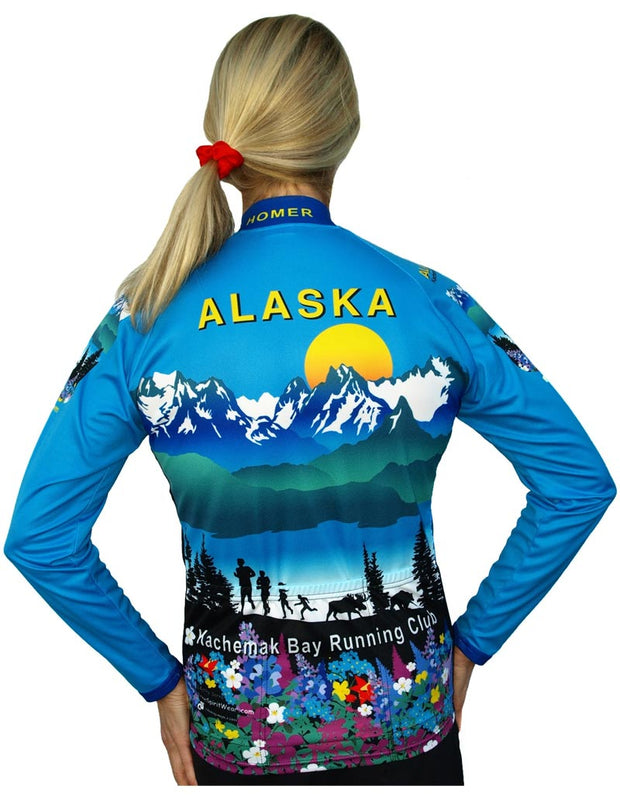 Womens Kachemak Bay Bike Jersey - Closeout - Free Spirit Wear Bike Jerseys