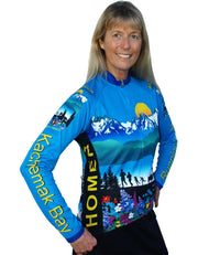 Womens Kachemak Bay Bike Jersey - Closeout - Free Spirit Bike Jerseys