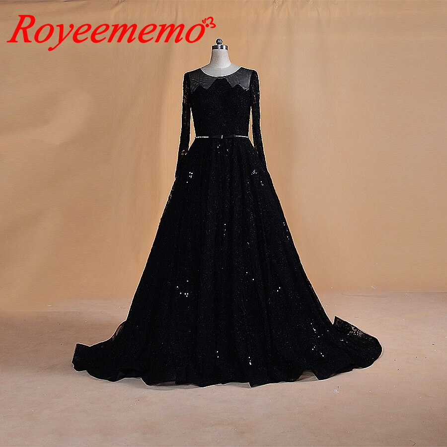 2020 new full beading lace black wedding dress luxury long sleeve wedding gown custom made factory wholesale price bridal dress