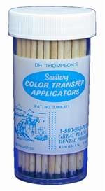 DR. THOMPSON COLOR TRANSFER APPLICATORS Bottle Each MFG #9521430