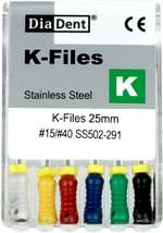 K-TYPE FILES #15-40 25mm - 6pk MFG #502-291