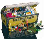 TREASURE CHEST Toys - 200bx MFG #187