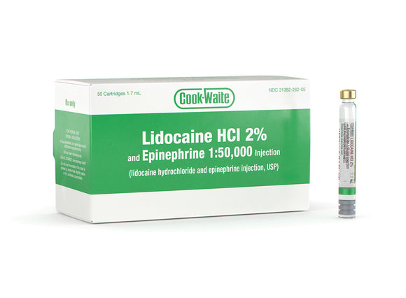 LIDOCAINE HCL 2% AND EPINEPHRINE 1:50,000 INJECTION