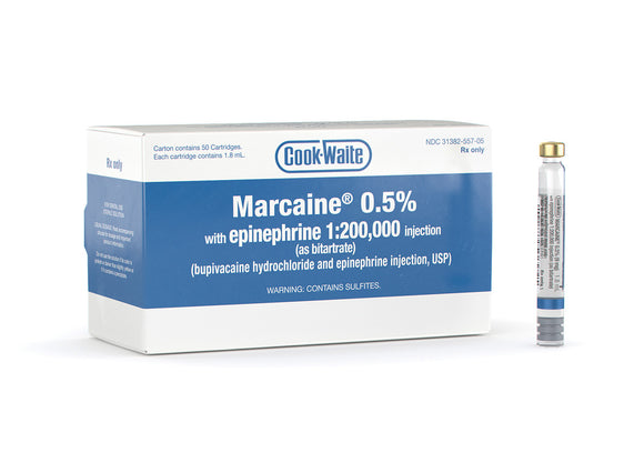 MARCAINE 0.5% with epinephrine 1:200,000 injection