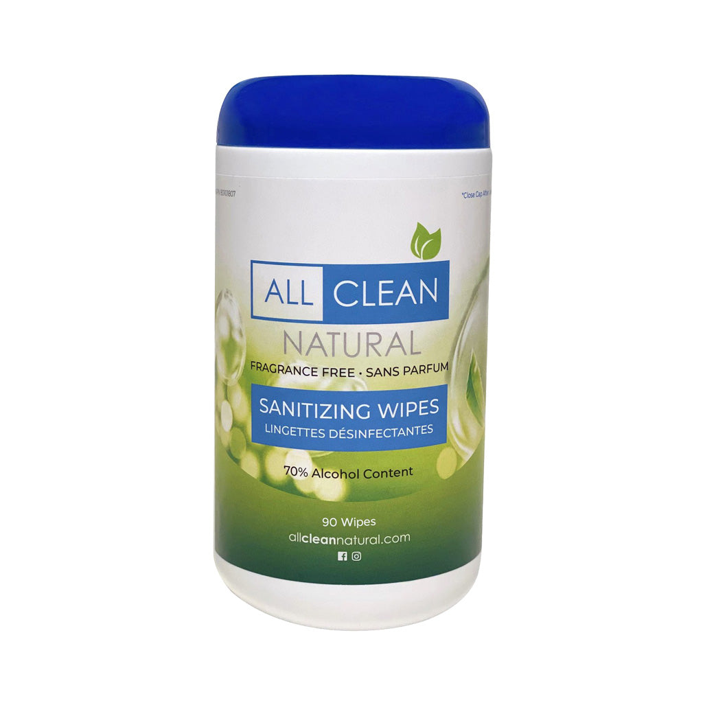 All Clean Natural Hand & Surface Sanitizing Wipes