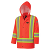 Pioneer Safety® FR Waterproof Hi-Viz Safety Jacket - PU Stretch - HV ORANGE