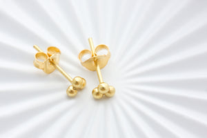 Gold Tiny Trio Studs