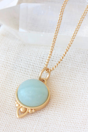 Gold Healing Gemstone Necklace - Aventurine