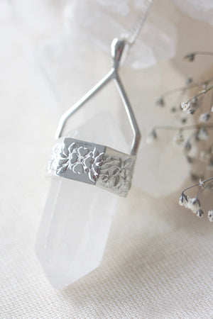 Spring Pendulum Necklace - Silver