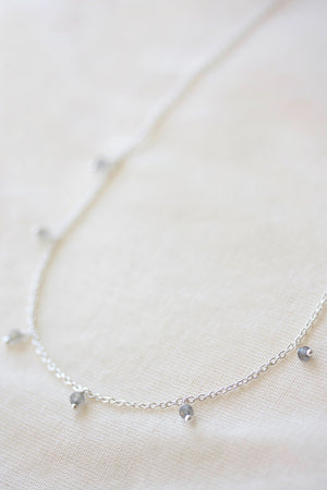 Flora Droplet Necklace - Silver