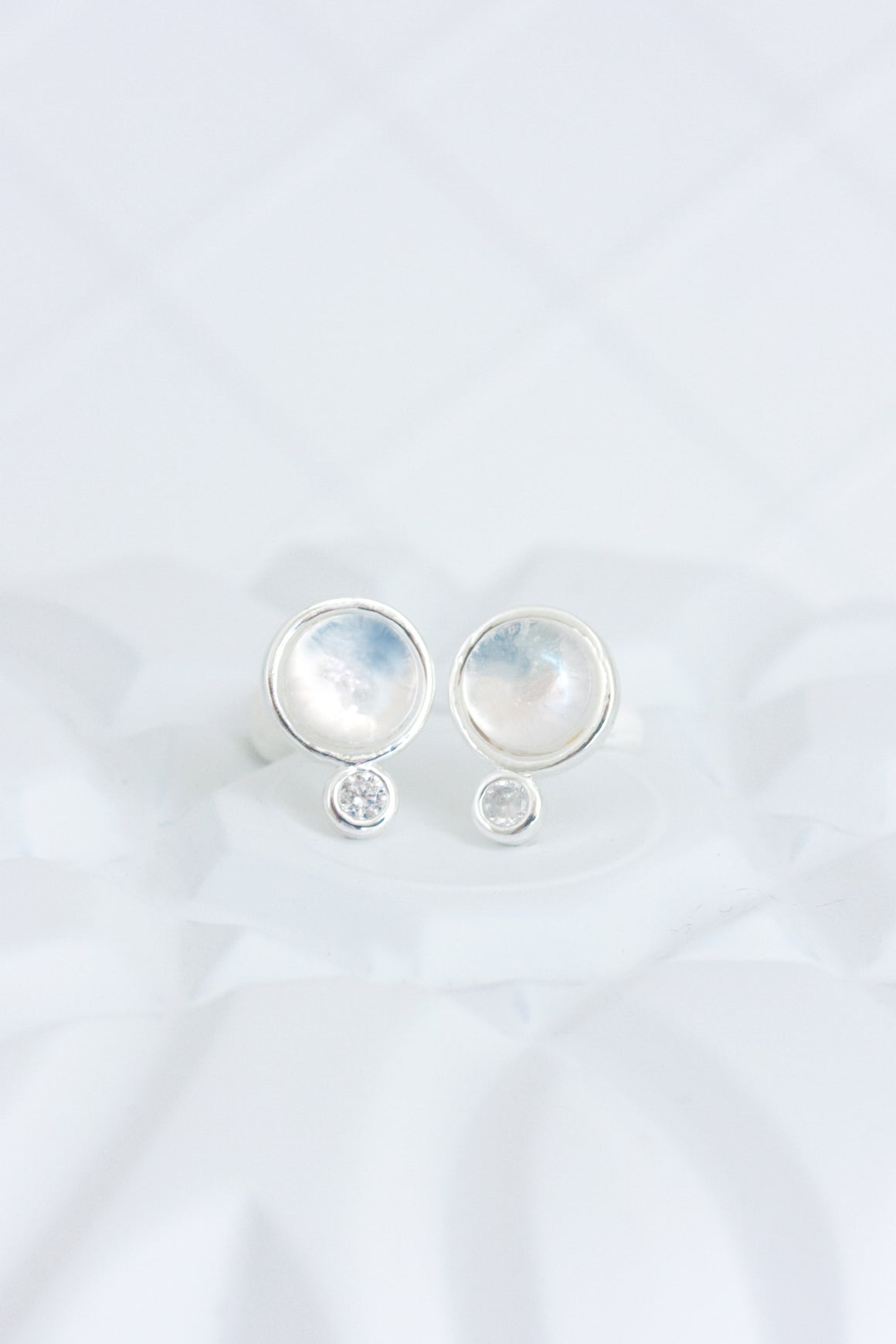 Moonstone Droplet Stud