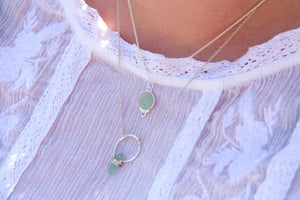 Silver Healing Gemstone Necklace - Aventurine