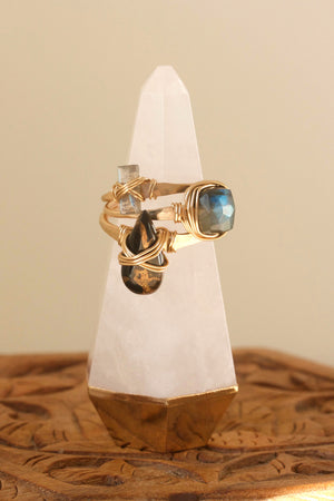 PRE-ORDER Clear Quartz Ring Cone