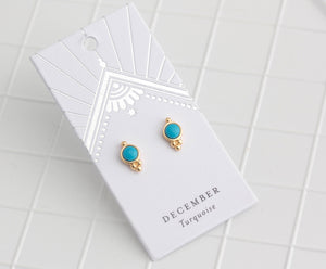 Birthstone Studs December/Turquoise