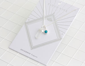 Birthstone Necklace December / Turquoise