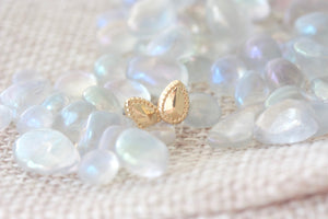 tiny gold gemstone studs