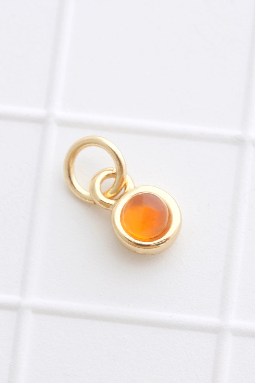 Gold Birthstone Charm
