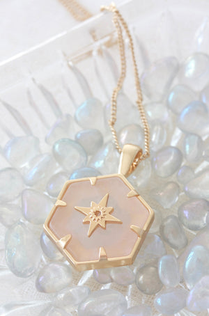 Guiding Forces Necklace - Rose Quartz