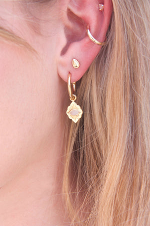 gold earrings multiple piercings