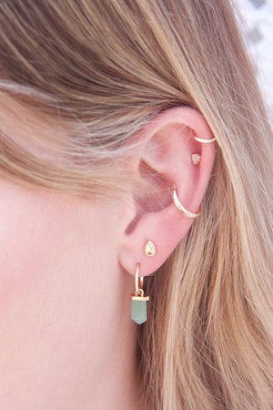 Gold Aventurine Intention Hoops