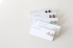 crystal gemstone stud earrings