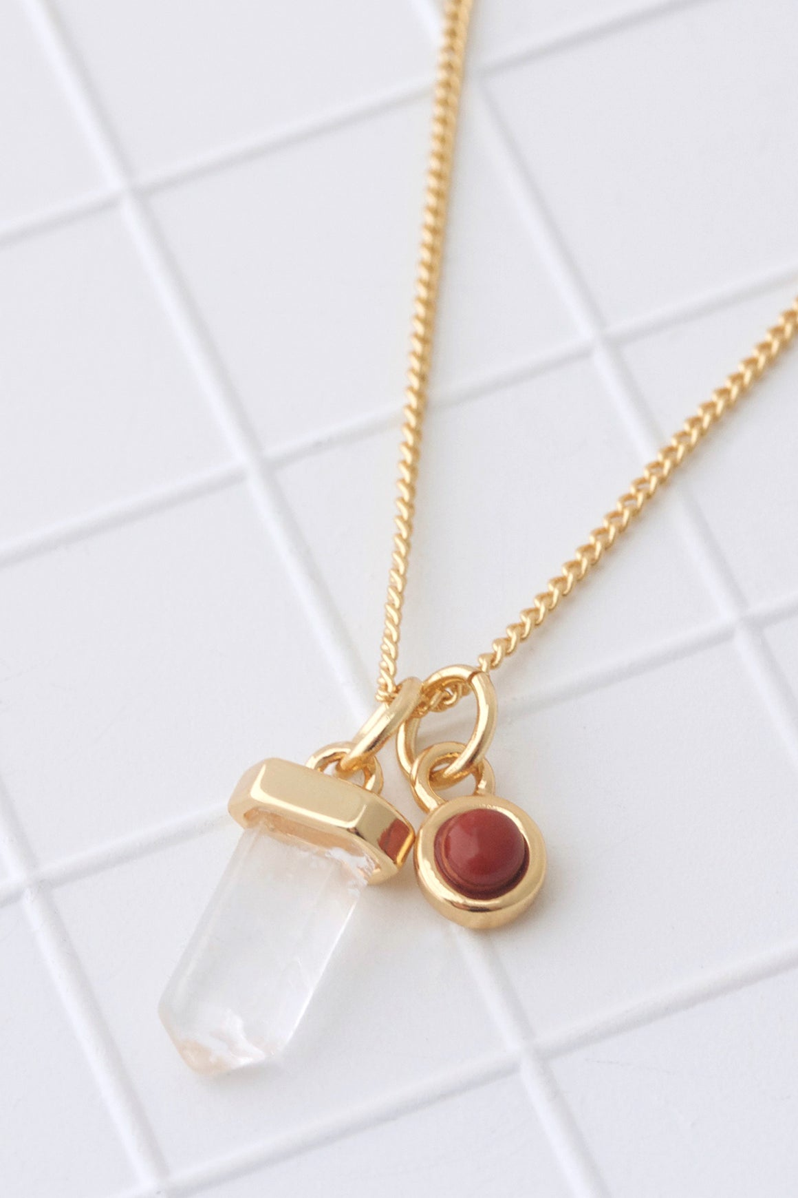 Birthstone Necklace January/Garnet