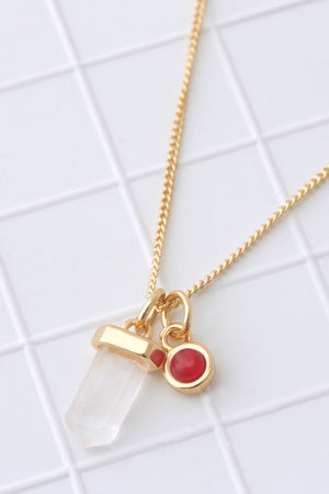 Birthstone Necklace July / Ruby