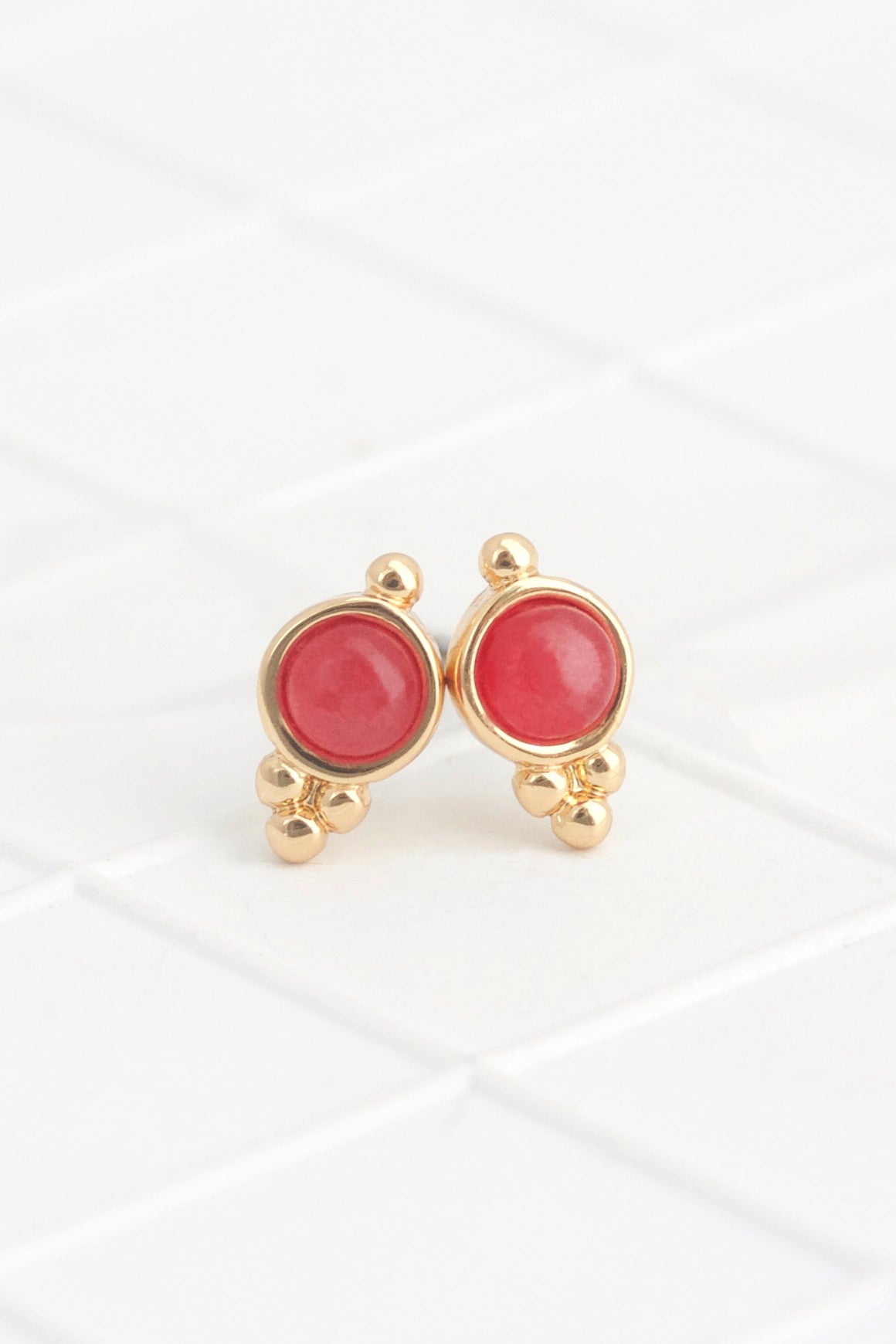 Birthstone Studs July/Ruby