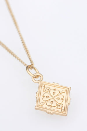 Gold Four Leaf Clover Good Luck Necklace