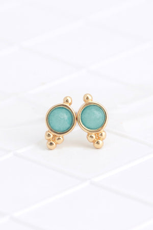 Birthstone Studs March/Aquamarine